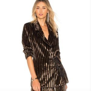 House of Harlow 1960 Revolve Ross Jacket in Bronze
